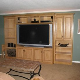 Maple Cabinet Basement