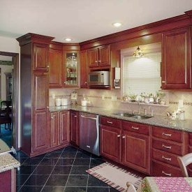 Cherry Cabinet Kitchen